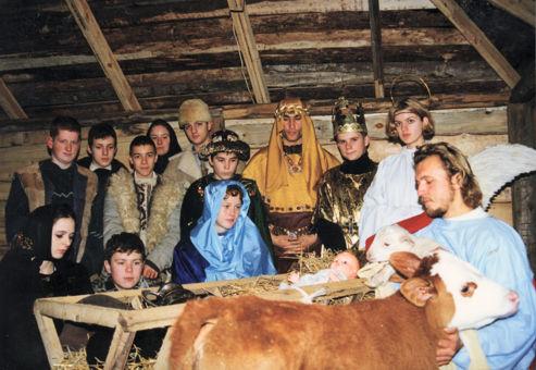 Živý betlehem na farme Humanita